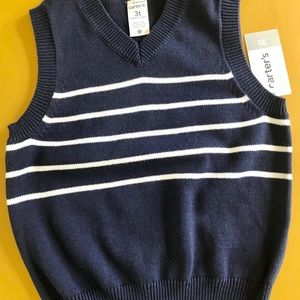 NWT Carter's Sweater Vest